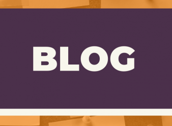 Banner with the word blog
