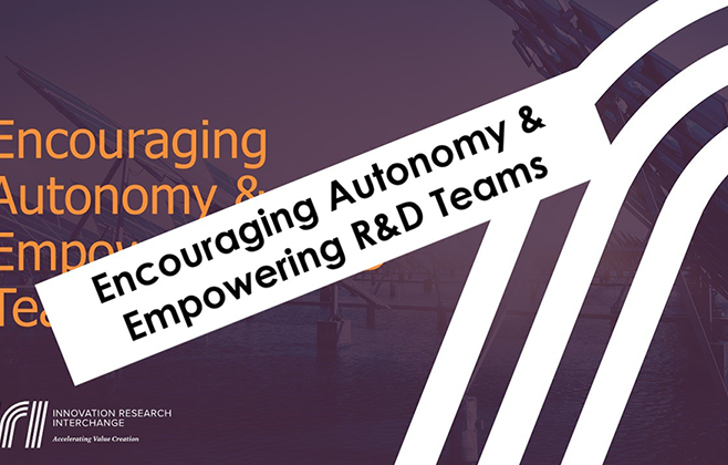 Encouraging Autonomy and Empowering R&D Teams