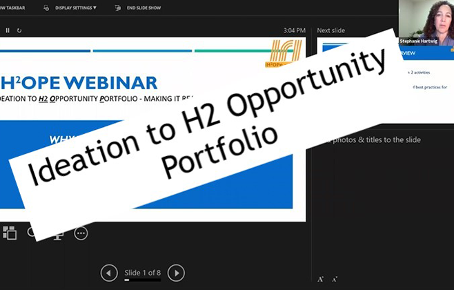 Ideation to H2 Opportunity Portfolio